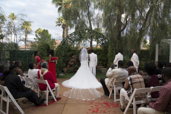 Las Vegas Wedding Packages All Inclusive.Waterfall Garden Reflection All Inclusive Wedding